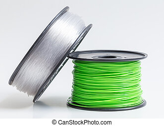 Filament for 3D Printer crystal clear and bright green...