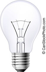 Filament lamp on a white background. Illustration for design