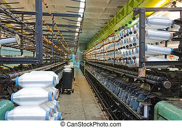 filamentos, tejer, máquinas