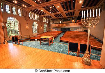 filas, sinagoga, pews