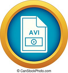 File AVI icon blue vector isolated on white background for ...