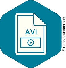 File AVI icon, simple style
