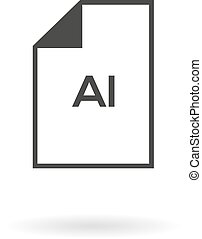 (file), blad, eenvoudig, tekst, binnen, ai, greyscale, pictogram