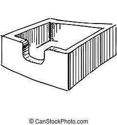 File box or case icon