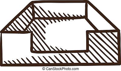 File box or case symbol.