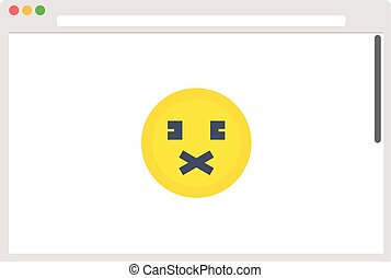 File browser with emoticon. Vector illustration