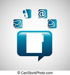 file bubble speech social media