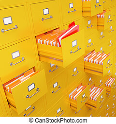 File cabinet 3D rendering - Very high resolution 3D...