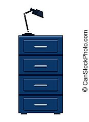 file cabinet and lamp