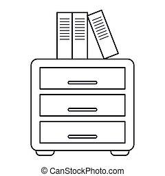 file cabinet archive workplace outline