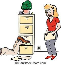 file cabinet fumble