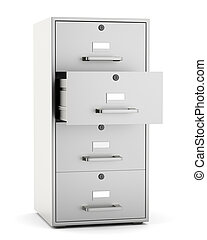 File cabinet isolated on white background