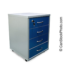 File cabinet - Four drawers of office filing cabinet...