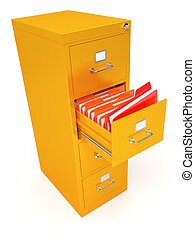 File cabinet - Very high resolution rendering of a file...