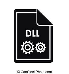 File DLL icon, simple style