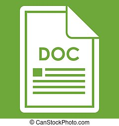 File DOC icon green