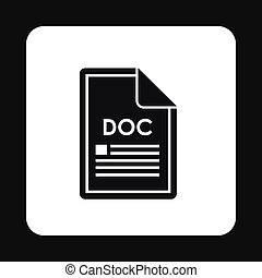 File DOC icon, simple style