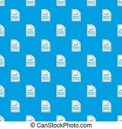File DOC pattern seamless blue