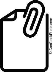 File document icon, outline style