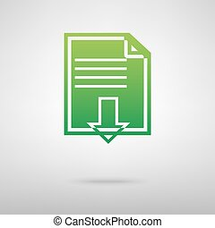File download. Green icon