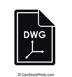 File DWG icon, simple style