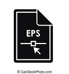 File EPS icon, simple style