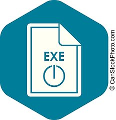 File EXE icon, simple style