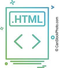 file files html icon vector design