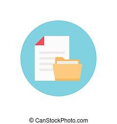 file  flat color icon