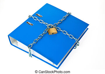 file folder closed with chain - a filing with chain and...
