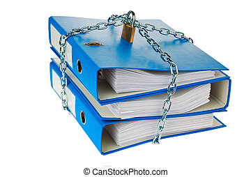 file folder closed with chain