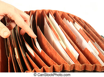 file folder - filing papers