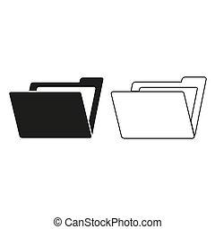 File Folder - green vector icon