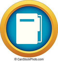 File folder icon blue vector isolated