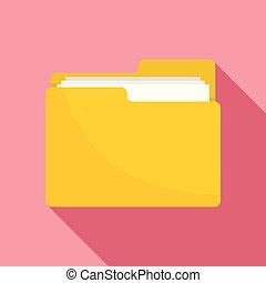 File folder icon, flat style