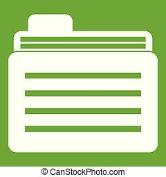 File folder icon green