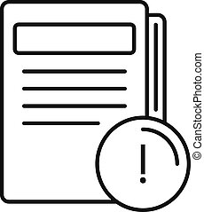 File folder icon, outline style