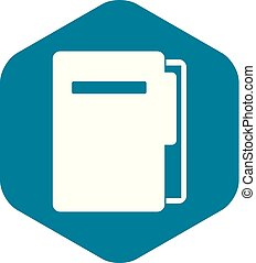 File folder icon, simple style