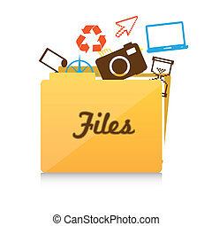 File folder icon, folder icons out of vector illustration