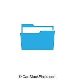 File, folder icon. Vector illustration, flat design.