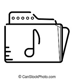file folder icon with a music note