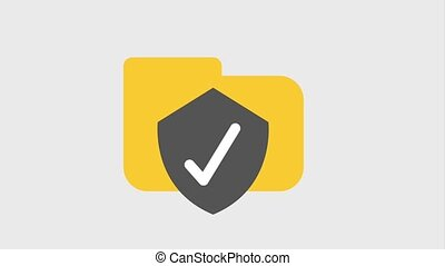 file folder icons - file folder with shield antivirus icons...