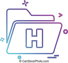 file folder information icon vector design