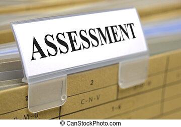 assessment - file folder marked with assessment