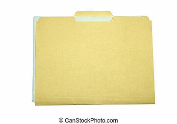 File Folder - Yellow file folder isolated on white...