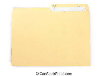 file folder - a file folder, business concept