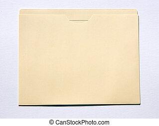 File Folder Isolated on White