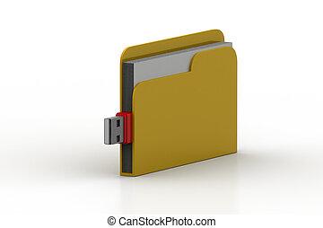File folder usb