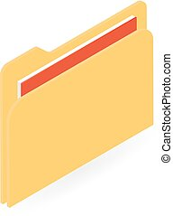 File Folder. Vector illustration .
