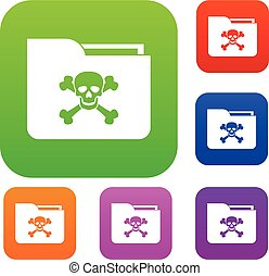 File folder with a skull set collection